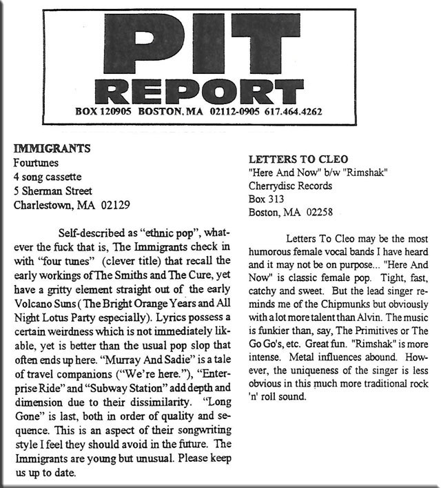Pit Report